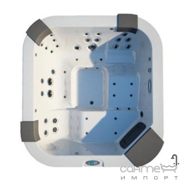 jacuzzi SPA бассейн с аудиосистемой Jacuzzi Italian Design Santorini Pro sound 9444-83752 белый, отделка Teak