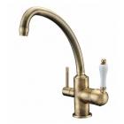 Смеситель для кухни с изливом для фильтрованной воды Zorg ZR 316-YF-50 BR Бронза (Латунь)