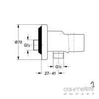 Смеситель скрытого монтажа с гигиенической душевой лейкой и подсоединением Grohe BauEdge 28512001 хром
