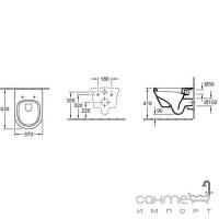 Унитаз Villeroy&Boch Omnia architectura 5684H101 + Инсталляция Geberit Duofix 458.121.21.1