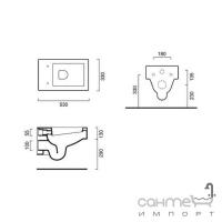 Подвесной унитаз Catalano Verso 53x33 1VSVE00 + сидение с крышкой Soft-Close 5VESTF00