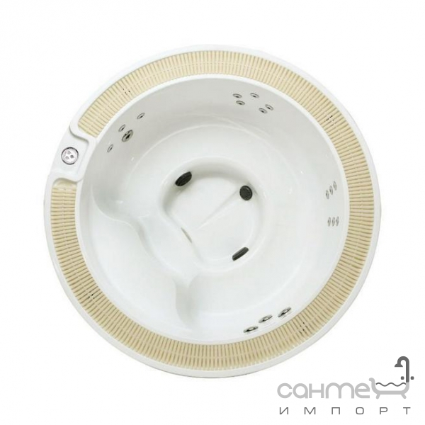 comfort spa Спа-бассейн с переливом Comfort Spa Mini-96 (ComSPA-96) белый, корпус кофейный
