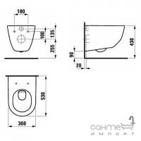 Унитаз подвесной Laufen Pro с крышкой soft-close H8619560000001