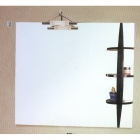 Зеркало для ванной с подсветкой и боковой деревянной полкой H2O LH-957