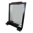 Зеркало для ванной комнаты с полочкой и ящиками H2O B021 цвет венге (уценка)
