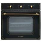 Электрический духовой шкаф Minola OE 66134 BL RUSTIC GLASS черное стекло