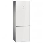 Отдельностоящий двухкамерный холодильник с нижней морозильной камерой Siemens KG49NSW31 белый