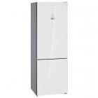 Отдельностоящий двухкамерный холодильник с нижней морозильной камерой Siemens KG49NLW30U белый