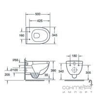 Подвесной унитаз с сидением softclose Devit New Project 3120147
