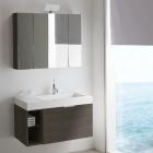 Комплект мебели Compab K145 (тумба с раковиной и зеркало) frassino ash
