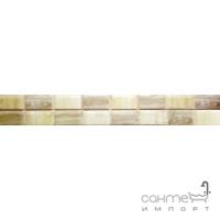 Плитка настенная фриз 6,5x60 Mayolica Ceramica Granada Crema Emperador