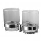 Стакан двойной подвесной Blask TML-0142 хром/прозрачное стекло