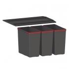 Сортер Franke Easysort 600-3-0 черный пластик