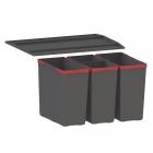 Сортер Franke Easysort 600-2-2 черный пластик
