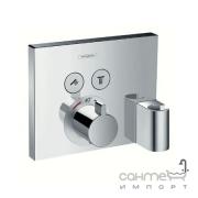 Внешняя часть термостата для душа Hansgrohe Shower Select 15765000 с держателем для лейки