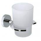 Стакан подвесной Invena AX-92-001 хром/матовое стекло