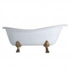 Ванна отдельностоящая Azzurra Victorian Style V112 C белая, золото, бронза