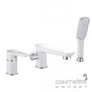 Смеситель для ванны на три отверстия Imprese Breclav white 85245W хром/белый
