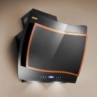 Вытяжка наклонная Derakhshan Frieze Orange H-301 чёрная с оранжевым декором