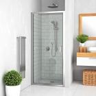 Душевая дверь одностворчатая Vagnerplast Oris JOD 90 VPZA900ORI3S0X-H0 профиль хром, стекло прозрачное