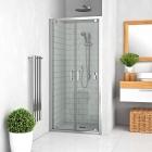 Душевая дверь двустворчатая Vagnerplast Oris DOD 90 VPZA900ORI4S0X-H0 профиль хром, стекло прозрачное