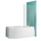 Шторка для ванны Vagnerplast Orien 110 VPVZ111ORN4S0X-H0 профиль хром, стекло прозрачное