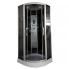 Гидромассажный бокс Atlantis Fashion AKL-100P-T профиль сатин, задние стенки черные, двери тонированные (графит)