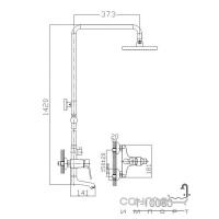 Душевой гарнитур Imprese Witow T-10080 с наполнением