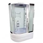 Гидромассажный бокс Atlantis AKL 1315(R) XL 130x85x220 правосторонний, профиль хром, стекло белое матовое