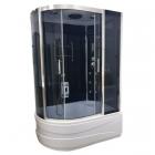 Гидромассажный бокс Atlantis AKL 1315(R) GR 130x85x220 правосторонний, профиль хром, синее стекло