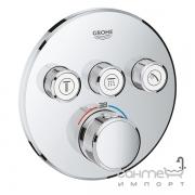 Внешняя часть смесителя-термостата для ванны/душа Grohe Smart Control 29121000 хром