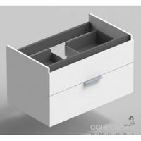 Тумба с раковиной подвесная Sonia Reverse 80 171477+157075 белый глянец/серая керамика
