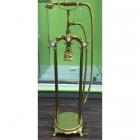 Напольный смеситель для ванны с душевой лейкой Atlantis Veronis Gold 02020 золото