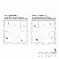 Гидромассажный паровой бокс левосторонний Orans SR-86120BS (L) профиль белый, стекла прозрачные