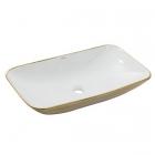 Раковина на столешницу Newarc Countertop 70 5019GW белая/золото