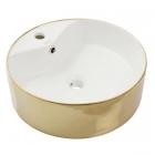 Раковина на столешницу Newarc Countertop 47 5017G-W белая/золото