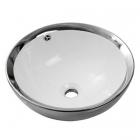 Раковина на столешницу Newarc Newart Countertop 42 5010CR-W белая/серебро
