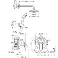 Душевая система скрытого монтажа Grohe Eurosmart Cosmopolitan 25183000 хром