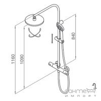Душевая стойка со смесителем-термостатом GRB Tender 137900XL хром