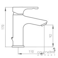 Смеситель для раковины GRB Tender 910900 хром