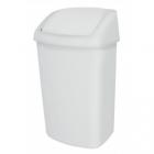 Корзина для мусора с качающейся крышкой на 10л JVD 8991083 белый
