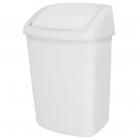 Корзина для мусора с качающейся крышкой на 25л JVD 8991084 белый