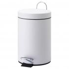 Корзина для мусора с педалькой на 5л JVD 899433 белый