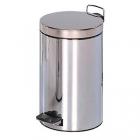 Корзина для мусора с педалькой на 5л JVD 899436 глянцевая