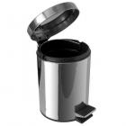 Корзина для мусора с педалькой на 12л JVD 899437 глянцевая