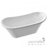 Отдельностоящая ванна из литого мрамора Fancy Marble Newton 1607 белая