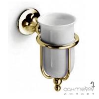 Держатель с керамическим стаканом Lineabeta Venessia 52901.35 бронза