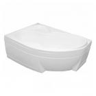 Акриловая ванна с панелью и ножками Bisante Роза 150 левосторонняя