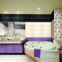 Бордюр 4,8x60 Ceramika Color Crypton Glam Viola