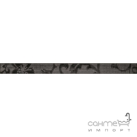 Бордюр 4,8x60 Ceramika Color Crypton Glam Black
